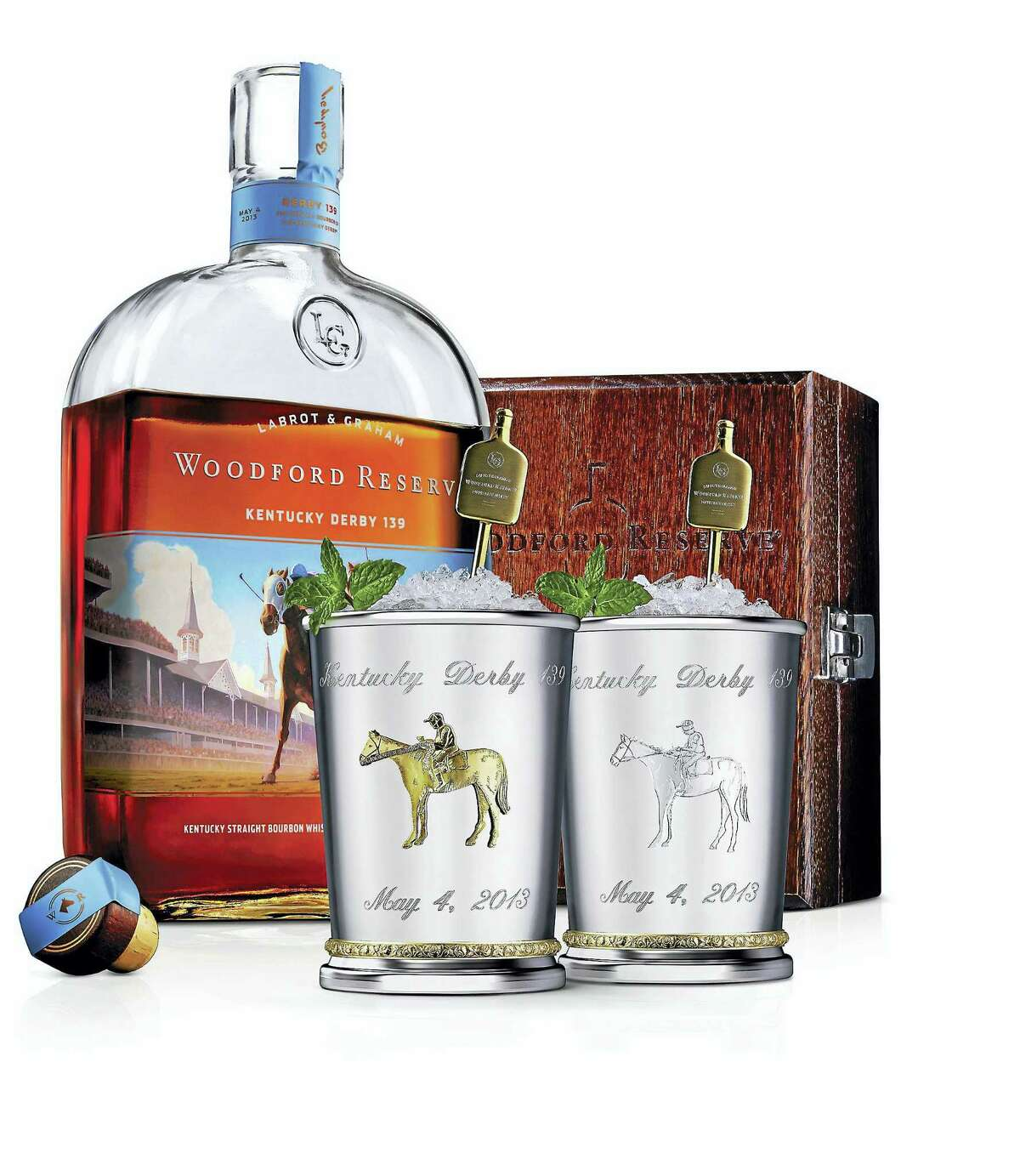 Woodford Reserve introduces $1,000 Mint Julep Cup for the Kentucky Derby. (PRNewsFoto/Woodford Reserve/via AP)