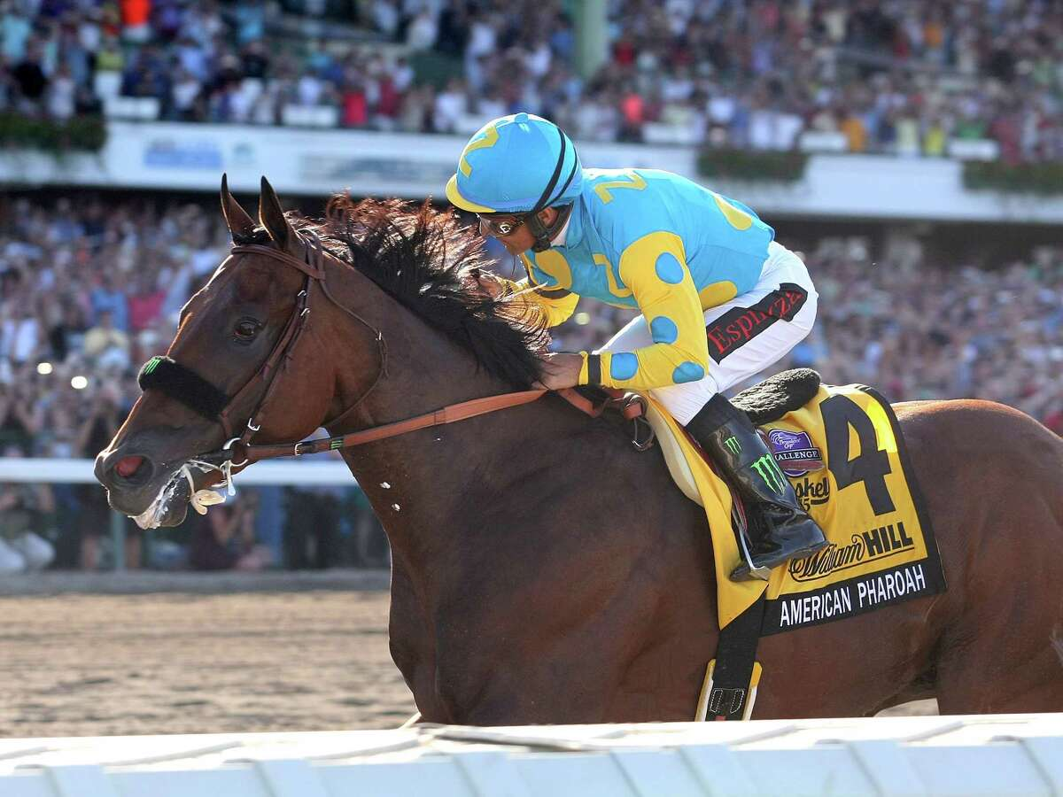 American Pharoah, with Victor Espinoza riding, easily won the Haskell on Sunday.