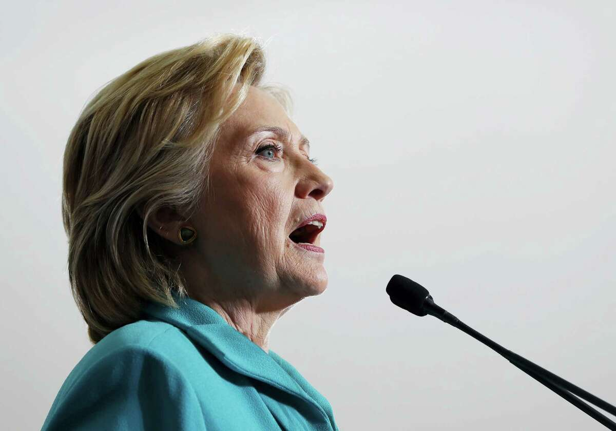 Democratic presidential candidate Hillary Clinton speaks during at a campaign event at Truckee Meadows Community College, in Reno, Nev., Thursday.