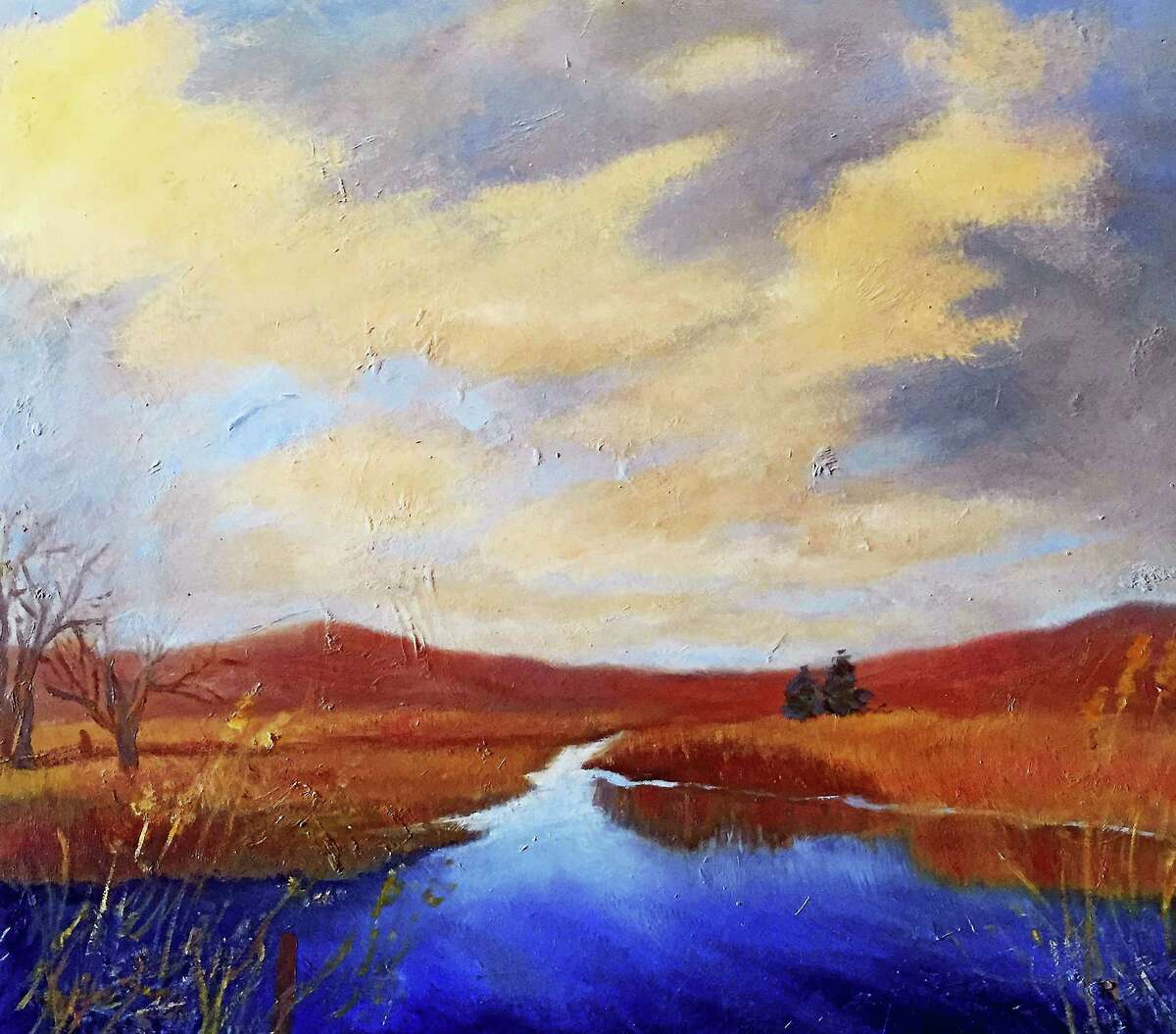 Contributed photoCold and Still, a painting by Shirley Howe, is part of an exhibit at the Kent Memorial Library.