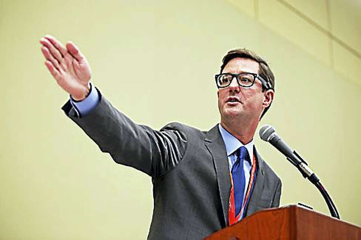 Clay Cope accepting the Republican nomination in May