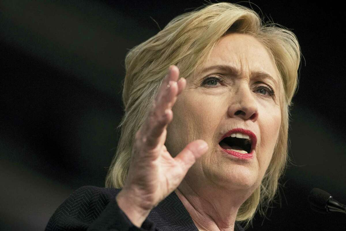 In this July 8 photo, Democratic presidential candidate Hillary Clinton speaks in Philadelphia.