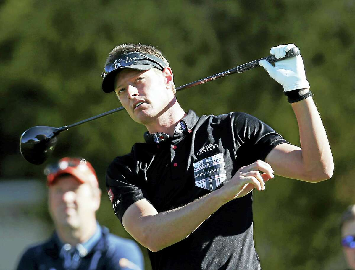Brett Stegmaier, shown here in Arizona in February, withdrew from The Barclays on Thursday with a wrist injury.