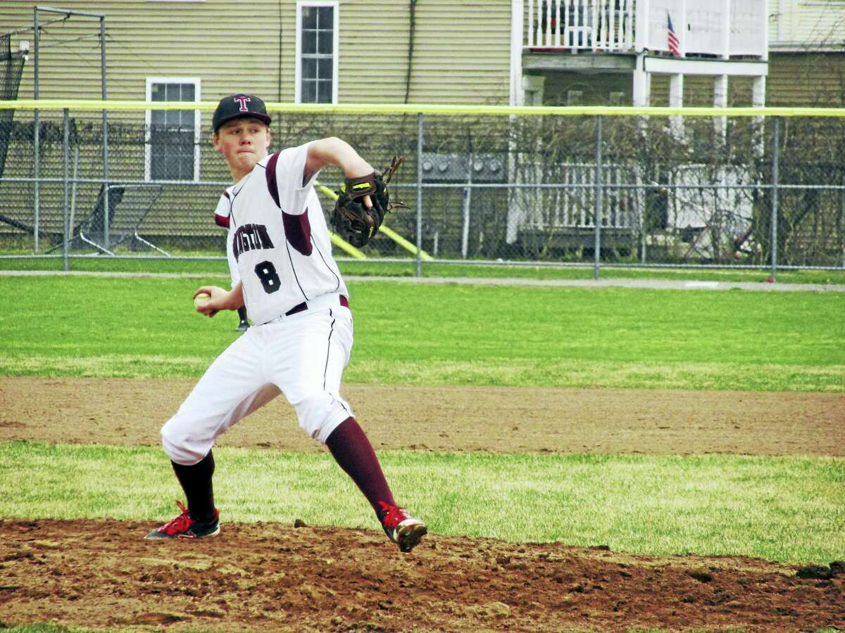 Torrington's Jake Reynolds rode out the bumps for six strong innings in a win over Woodland Saturday at Fuessenich Park.