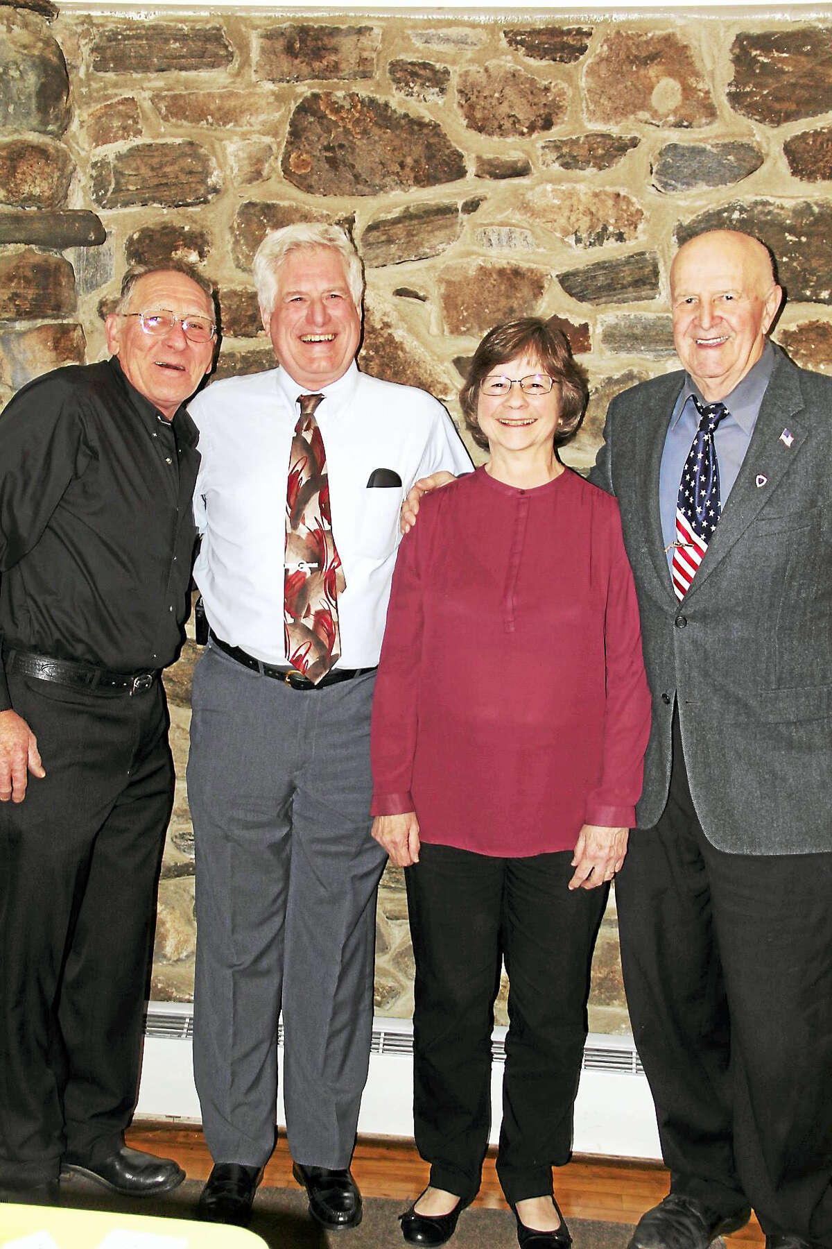 Photo by Anita Garnett From left are award recipients Art Melchyer, Peter and Noreen Marchand and Moe Gabelmann.