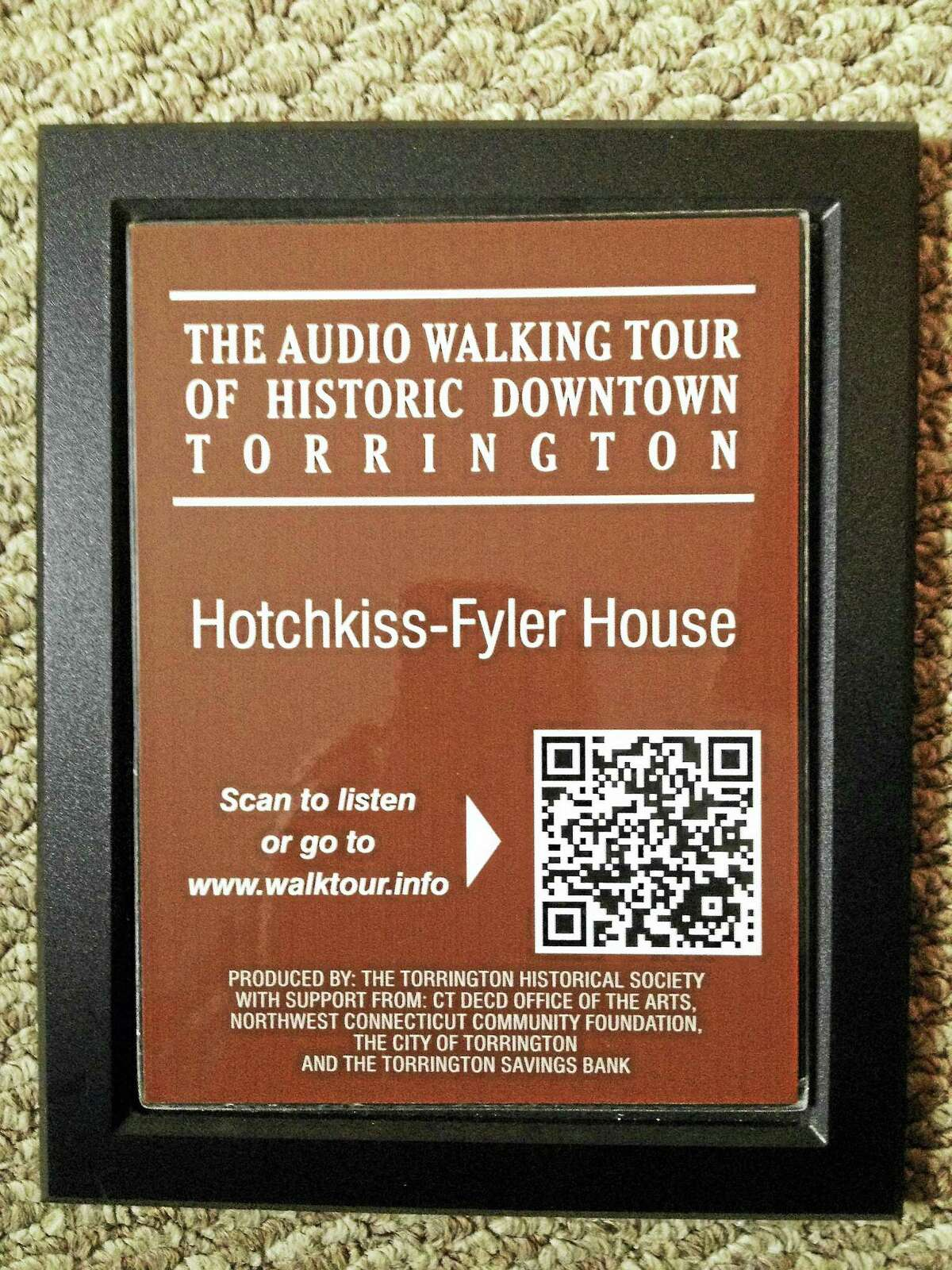 Contributed photoSigns guide walkers on a tour of Torrington.
