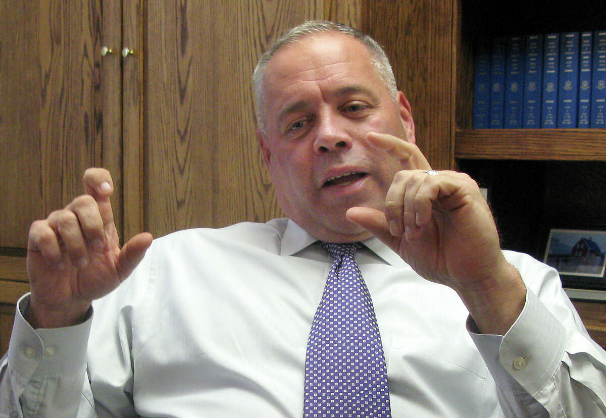 Scott Semple, Connecticut's correction commissioner, speaks during an Associated Press interview in his office in Wethersfield in 2015.