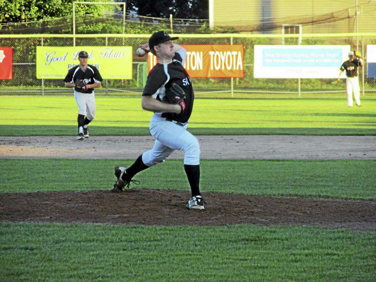 Terryville's Kevin Kerski struck out 14 Plowboys to lead the Black Sox to a Tri-State Baseball series-tying win over Bethlehem Tuesday night at Fuessenich Park