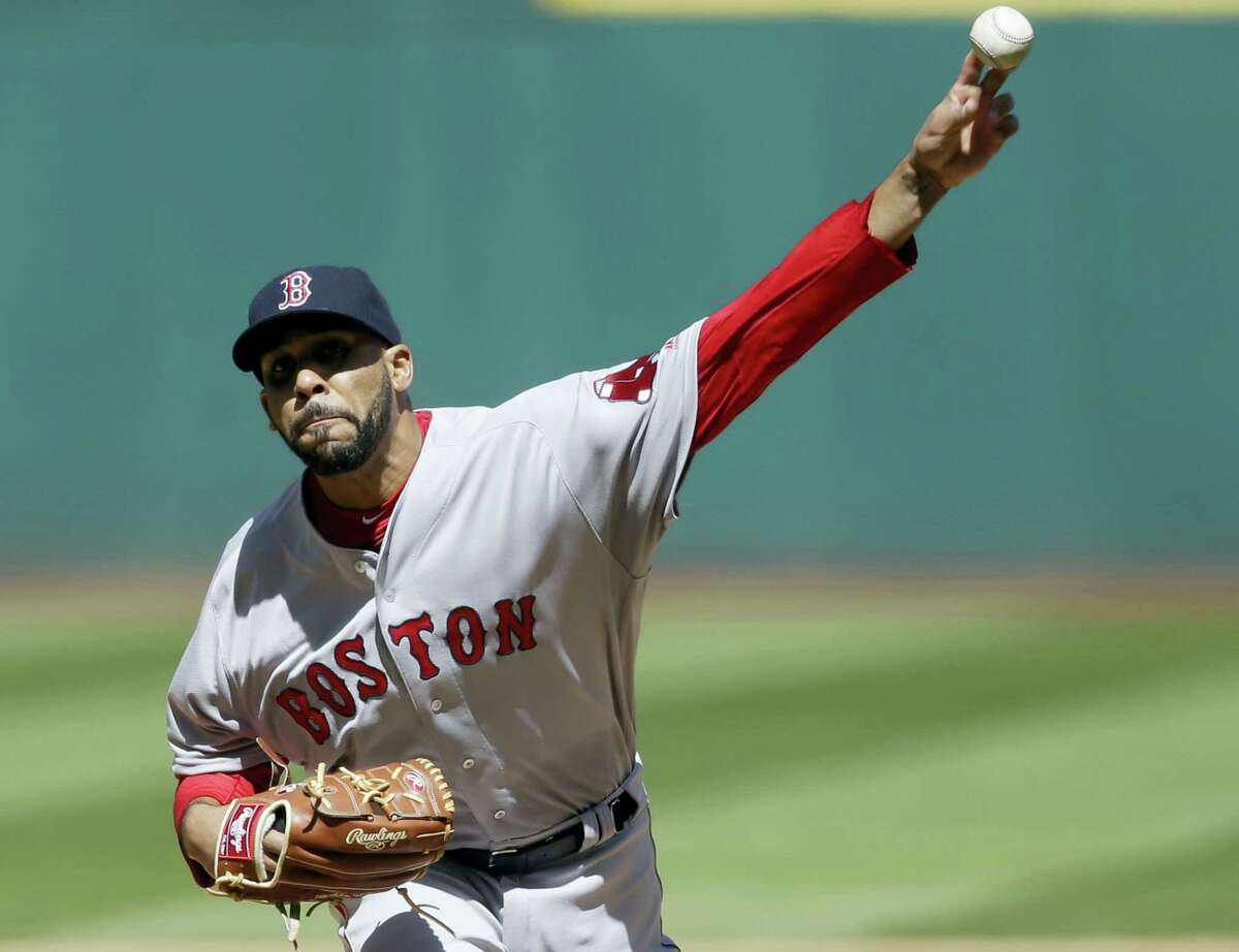 Red Sox starting pitcher David Price delivers in the first inning against the Indians on Tuesday.