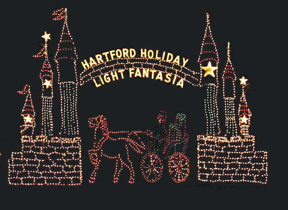 Hartford's Holiday Light Fantasia continues through Jan. 1.