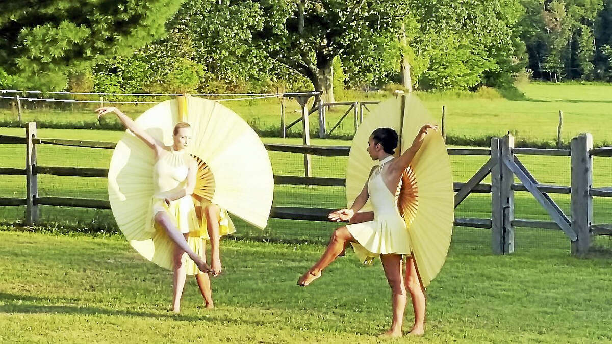 """Photo by Noel AmberyDancers-illusionists from the dance company MOMIX performed excerpts from previous seasons during the eighth annual """"MOMIX in the Garden"""" Saturday at the Norfolk home of donors Kristin and Grant Mudge."""