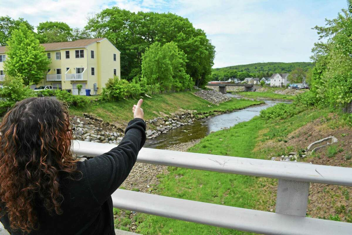 The banks of the Naugatuck River in Torrington, where city officials hope to build a trail using grant funds.