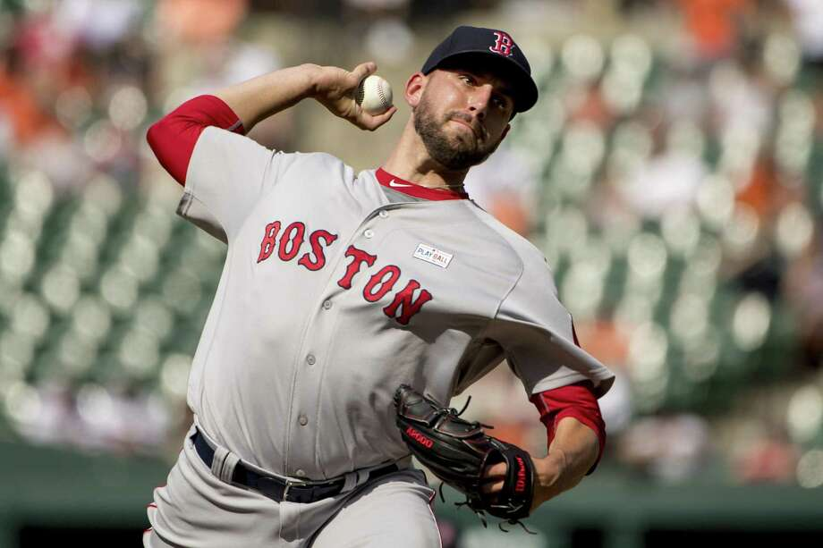 BOSTON, MA - JUNE 4: Matt Barnes #68 of the Boston Red Sox delivers during the ninth inning of a game against the Baltimore Orioles on June 4, 2017 at Oriole Park at Camden Yards in Baltimore, Maryland. Photo: Billie Weiss/Boston Red Sox / Getty Images / 2017 Billie Weiss/Boston Red Sox