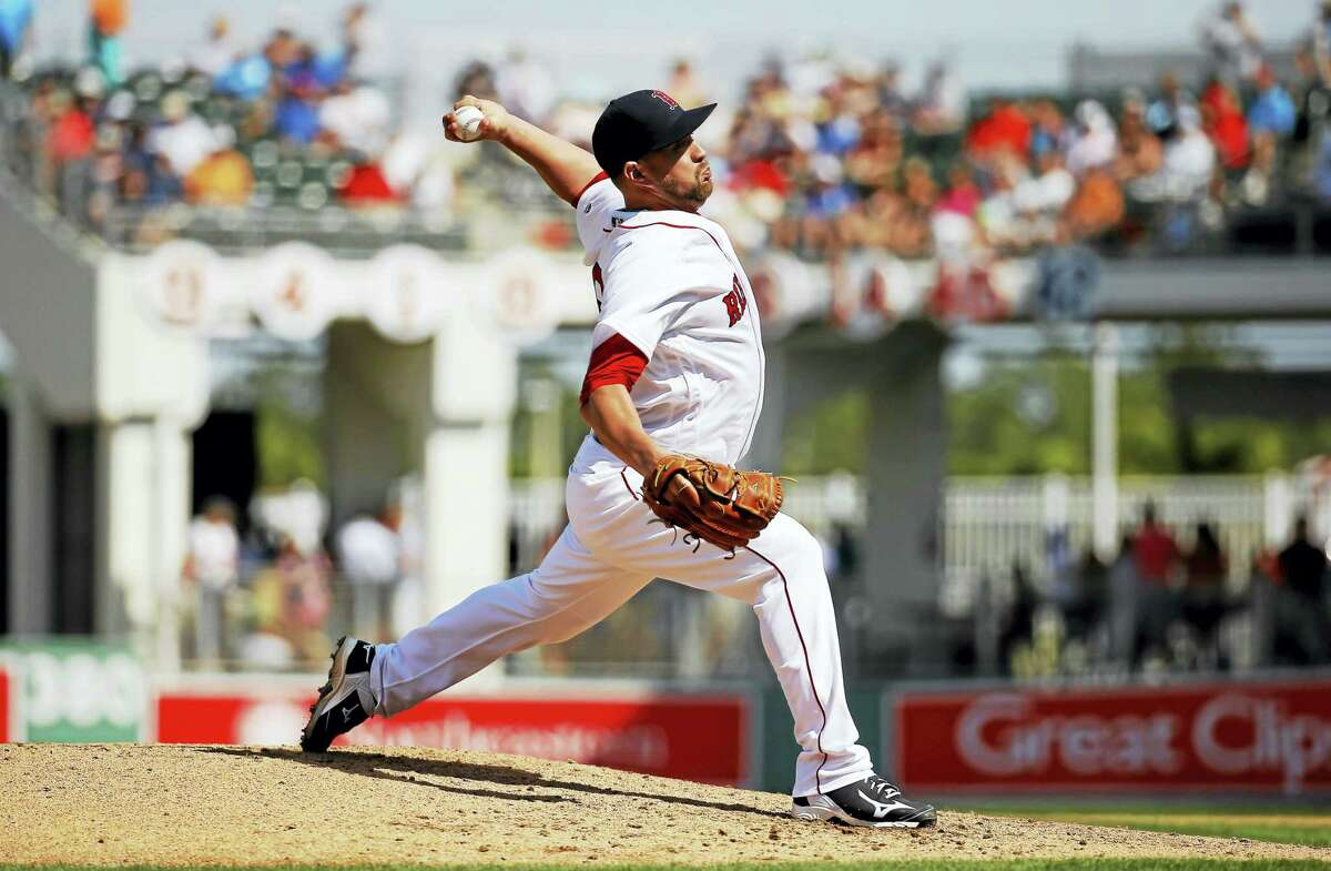 Brian Johnson, shown here during spring training, has a 3.29 ERA for the Pawtucket Red Sox.