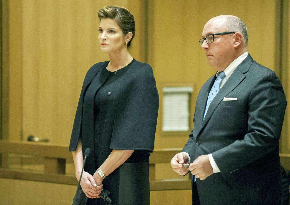 In this Feb. 2, 2016 photo, supermodel Stephanie Seymour attends an arraignment hearing on a drunken driving charge in Stamford, Conn. A judge is set to decide whether Seymour can enter a program that could lead to the dismissal of a drunken driving charge. Seymour is due back in Stamford Superior Court on Monday, April 4.