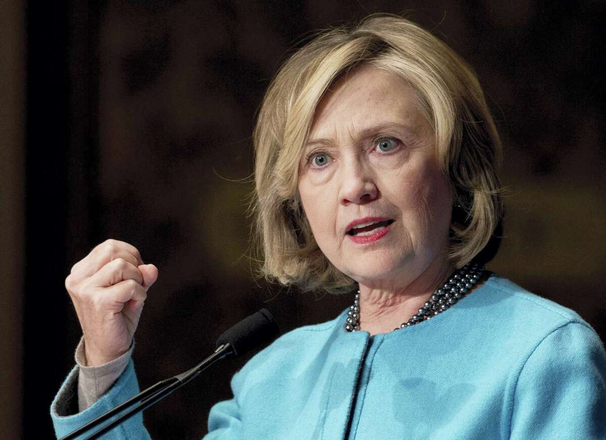 Former Secretary of State Hillary Rodham Clinton speaks in Gaston Hall at Georgetown University, in Washington in 2014.