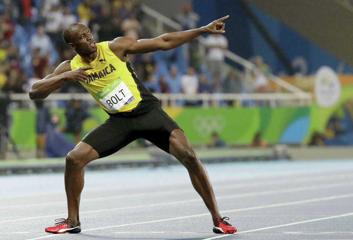 Usain Bolt celebrates after winning the men's 200 meters on Thursday in Rio de Janeiro, Brazil.