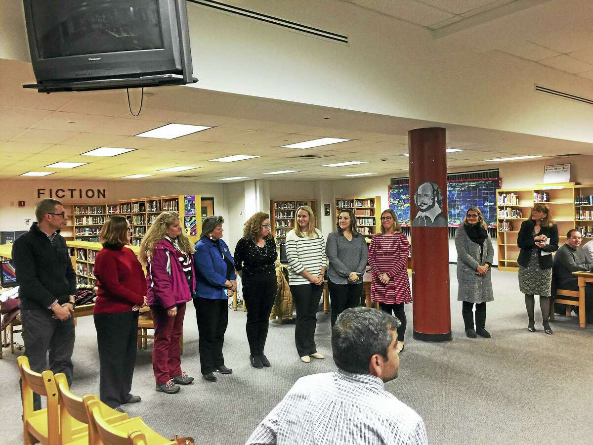 Ben Lambert - The Register CitizenTorrington Middle School staff were recognized Wednesday for fostering a positive climate in the city school.