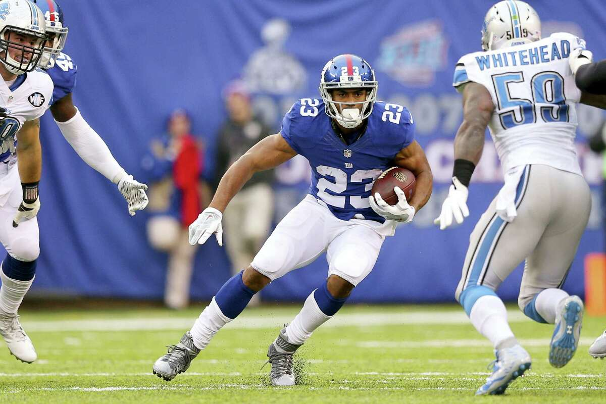 Running back Rashad Jennings (23) and the New York Giants visit the Philadelphia Eagles tonight.