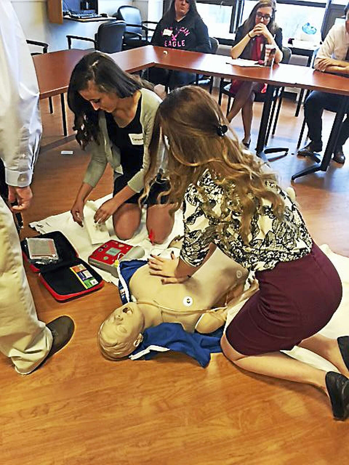 Torrington High School students took a step into the professional world Thursday, as they participated in a job-shadowing event organized by the district, including at Charlotte Hungerford Hospital.
