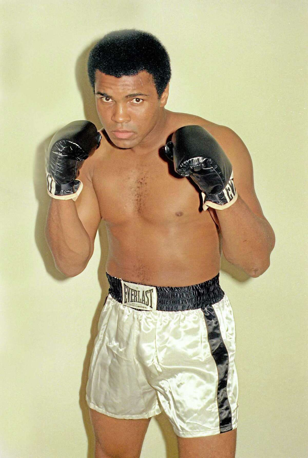 Muhammad Ali is seen training Oct. 9, 1974 for his world championship fight in Zaire.