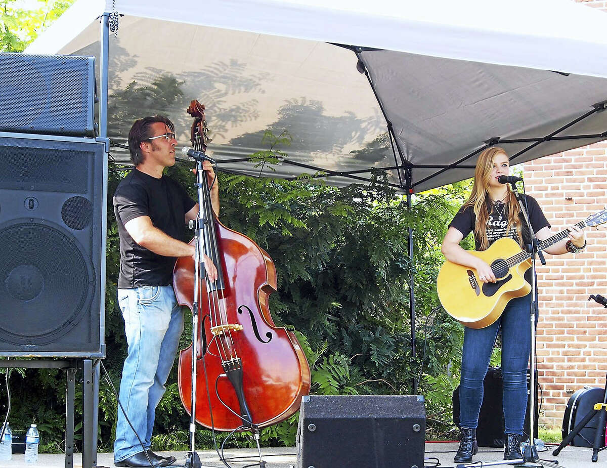 Contributed photo Belle of the Fall plays during Fuse Fest 2015; the duo returns to Torrington for the second festival on Saturday.