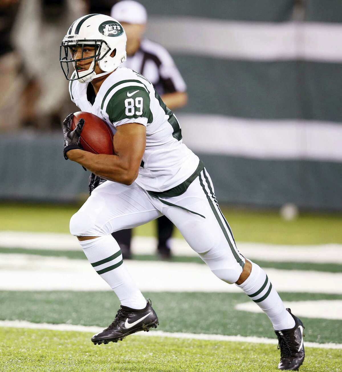 New York Jets wide receiver Jalin Marshall.