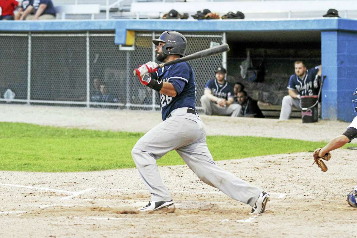 Naugatuck's Jeff Rustico gave the Dogs early hope with an RBI double in the second inning.