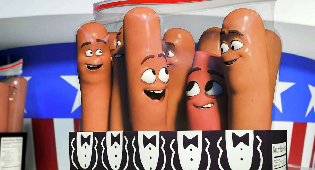 """This image released by Sony Pictures shows a scene from """"Sausage Party."""""""