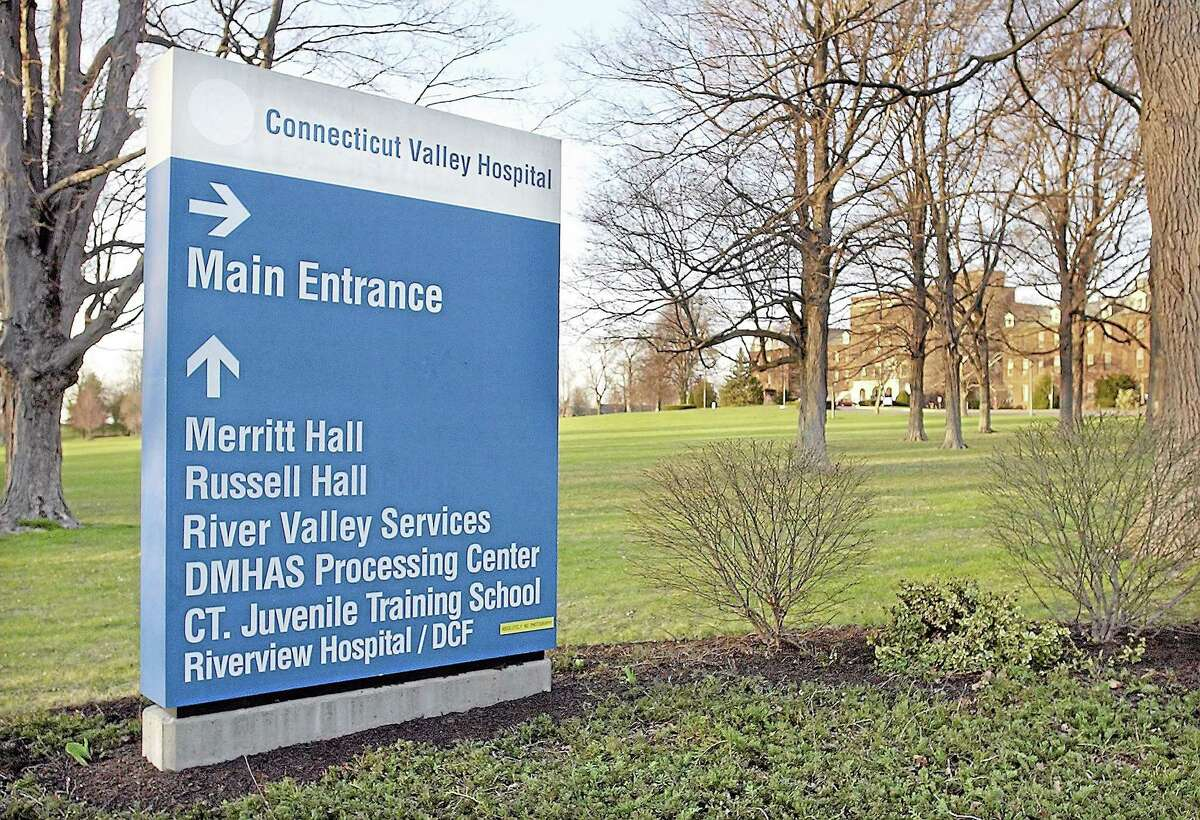The main entrance to Connecticut Valley Hospital located in Middletown.