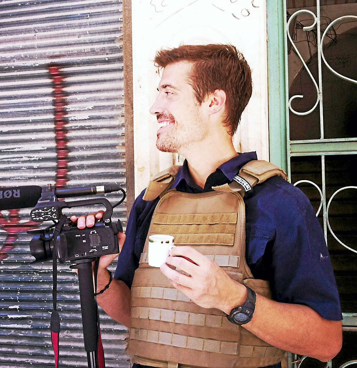 Journalist James Foley in Aleppo, Syria, in July, 2012.AP PROVIDES ACCESS TO THIS PUBLICLY DISTRIBUTED HANDOUT PHOTO FROM FREEJAMESFOLEY.ORG TO BE USEDS FOR EDITORIAL PURPOSES ONLY NO SALES
