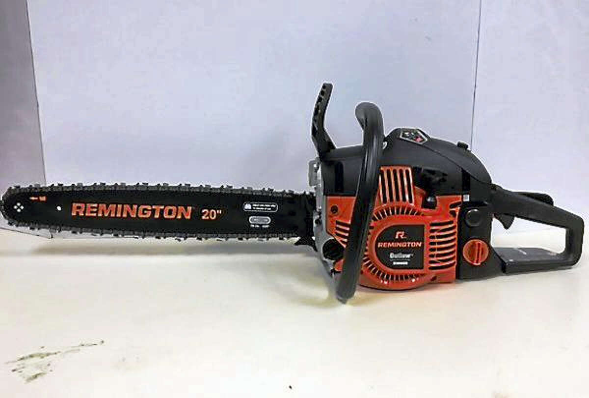 Some 8,000 Remington chainsaws are being recalled because they can leak fuel and possibly start a fire.