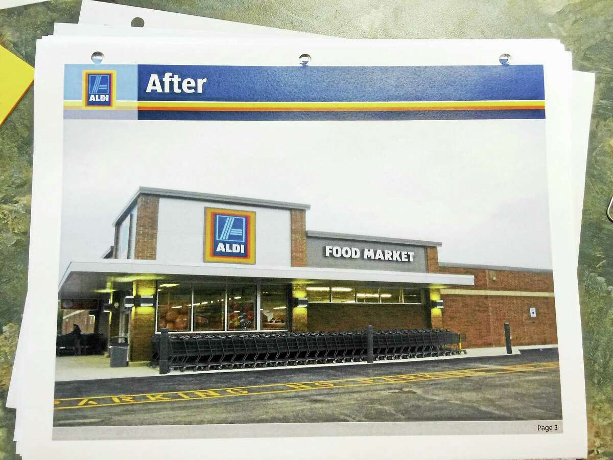Contributed photo A graphic depiction of the future Torrington Aldi grocery store.