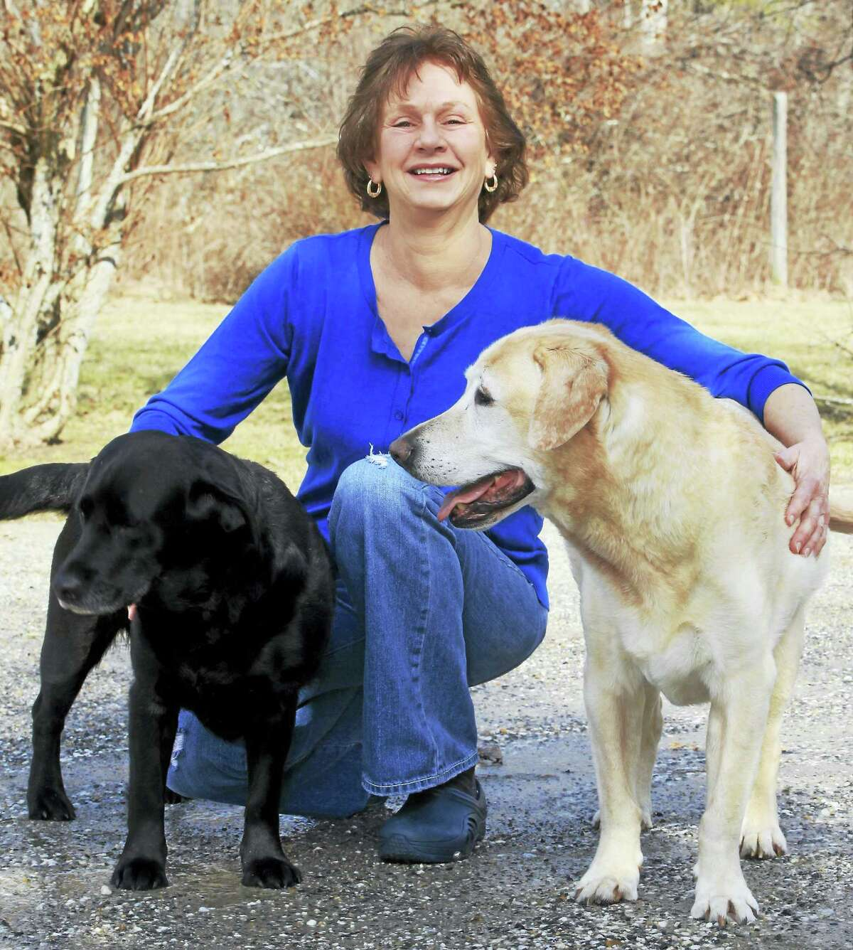 Contributed photo Children's book author Deborah Hewins with a couple of furry friends.