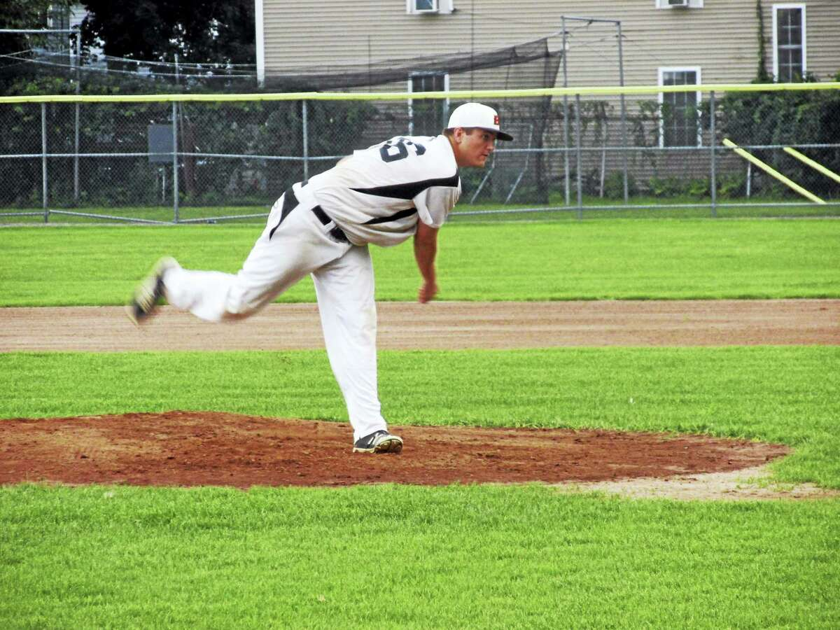 Watertown pitcher Kyle Kennedy drove two-and-a-half hours to throw nine innings for the Blaze in a Tri-State Baseball League semifinal win over Bethlehem Thursday evening at Fuessenich Park.