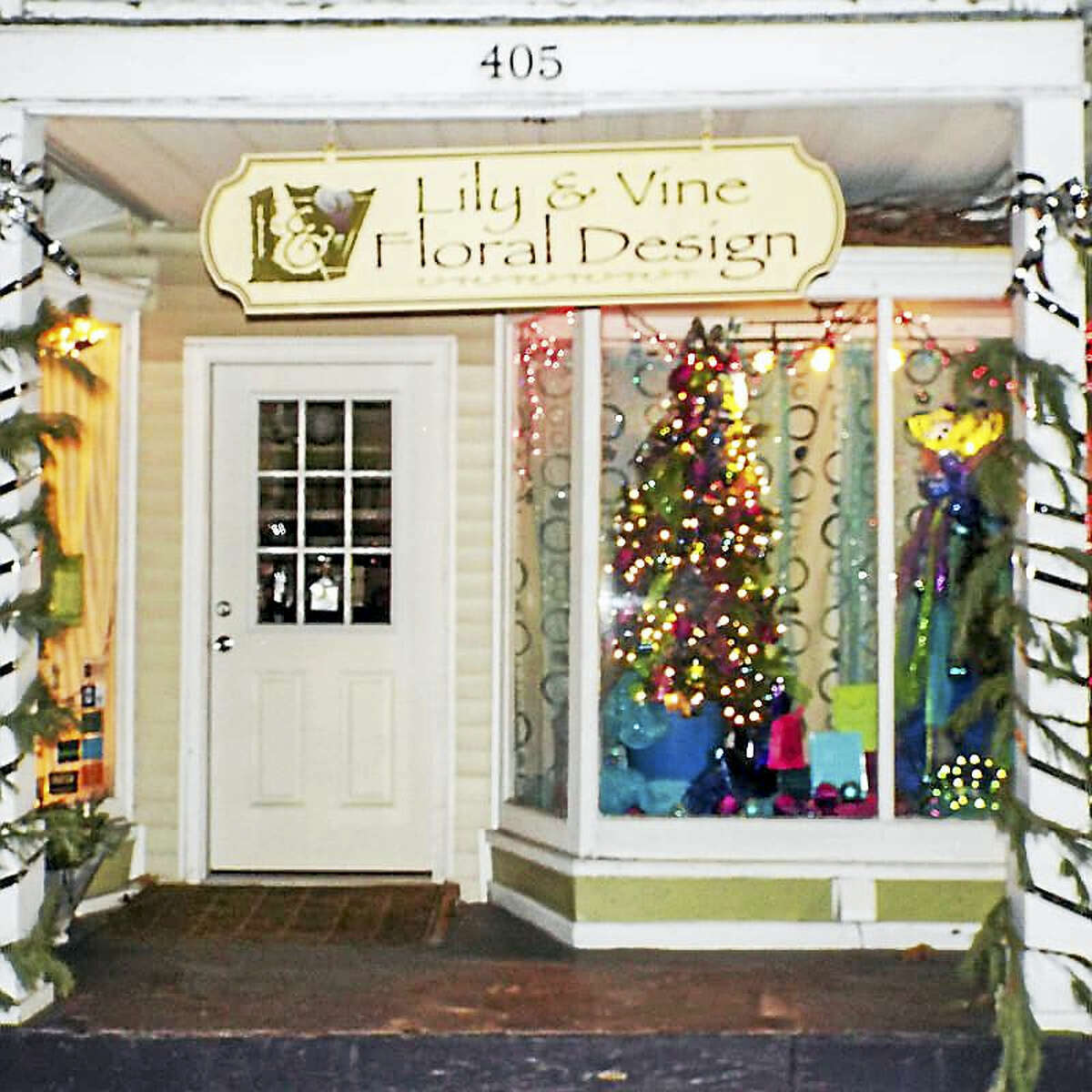 Contributed photosLily & Vine placed first in the commercial category of the holiday decorating contest.