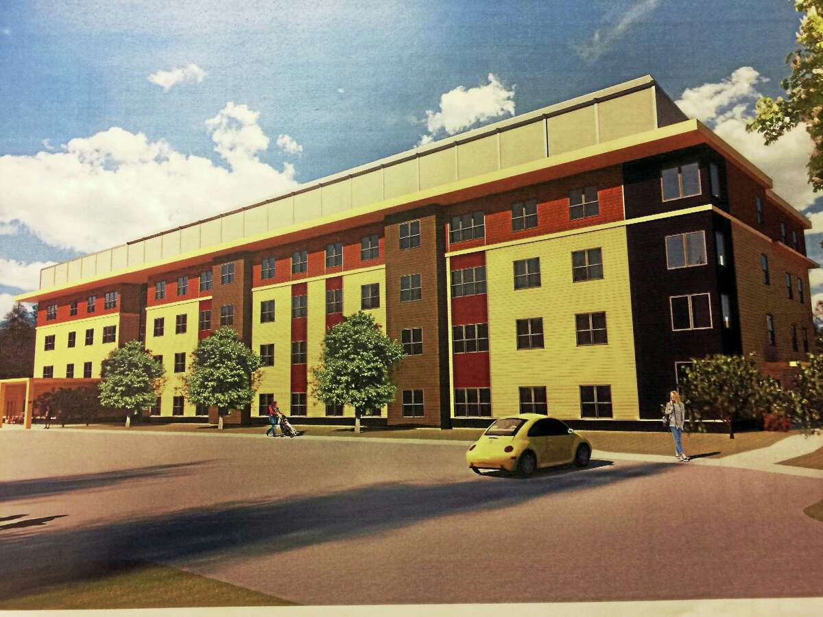Contributed photo Conceptual drawings for a 62-unit apartment building planned for 380 Torringford West Street.