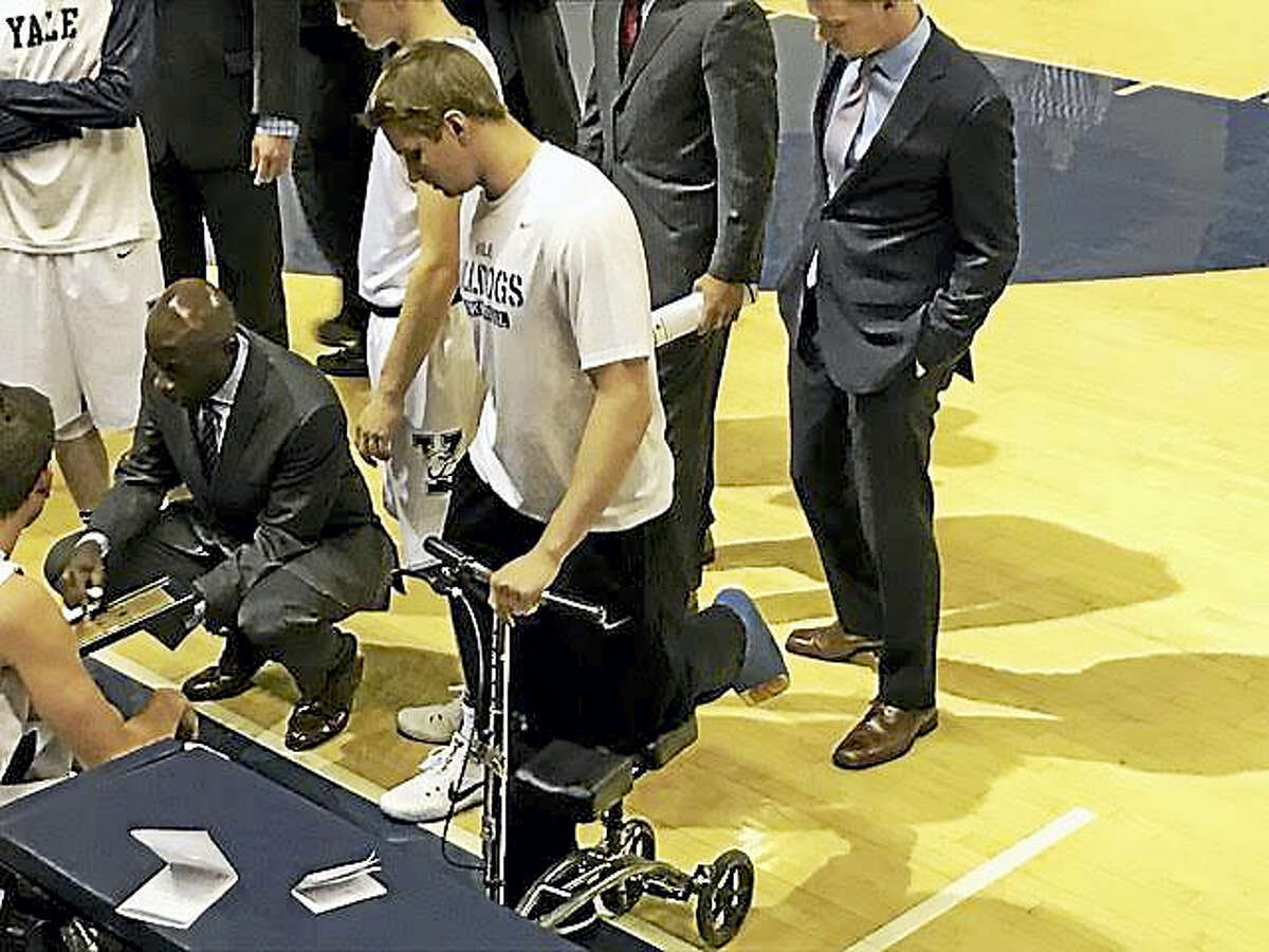 Yale star Makai Mason is sidelined for the rest of the season by a serious foot injury.
