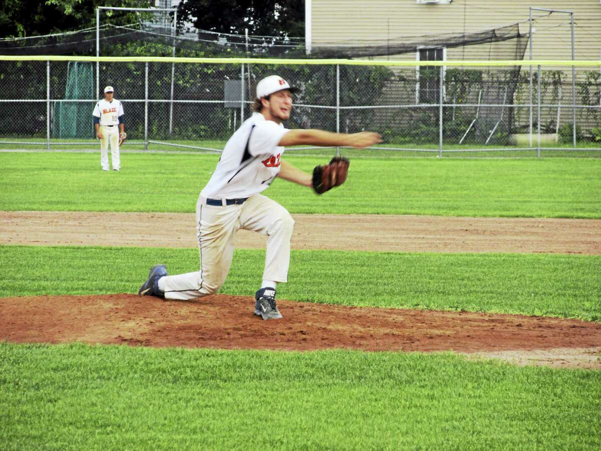 In just his second start of the season for pitching-rich Watertown, Steve Consiglia went eight innings, giving up just two runs in the Blaze's Tri-State Baseball League semifinal win over Bethlehem Wednesday night.