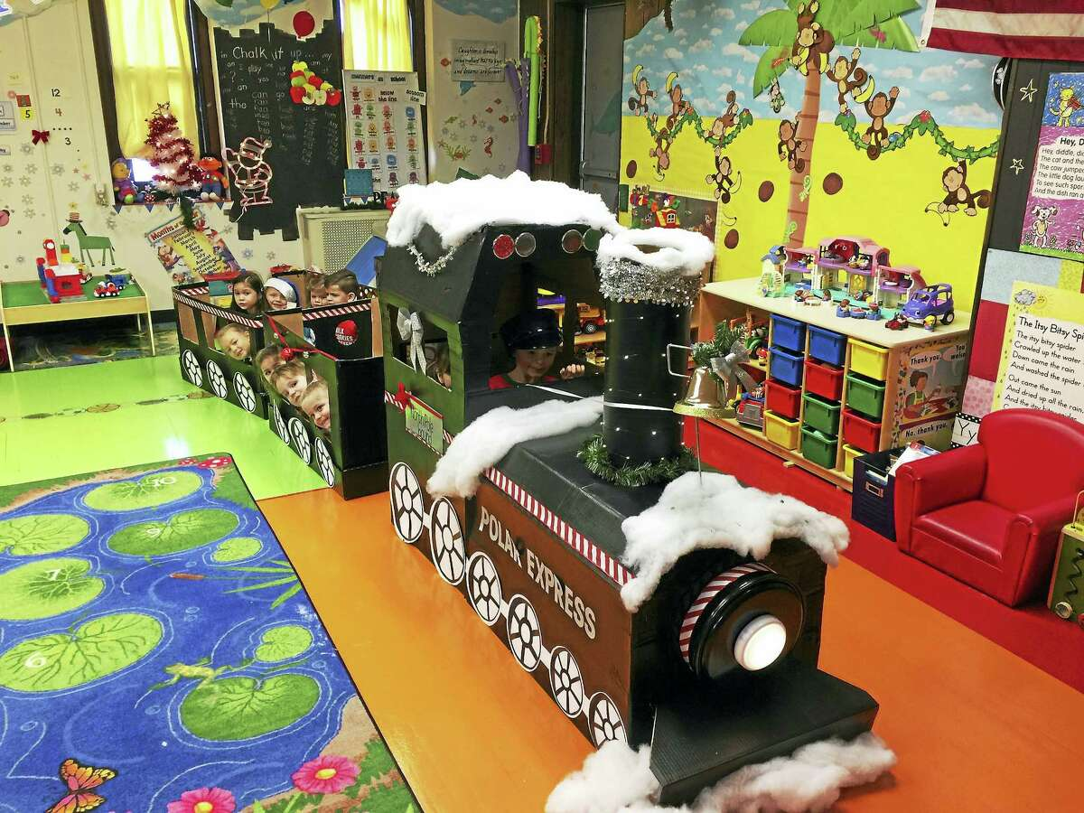 Students at Miss Stacey's Early Childhood Education center rode the Polar Express in celebration of the holiday season Thursday morning in Torrington.