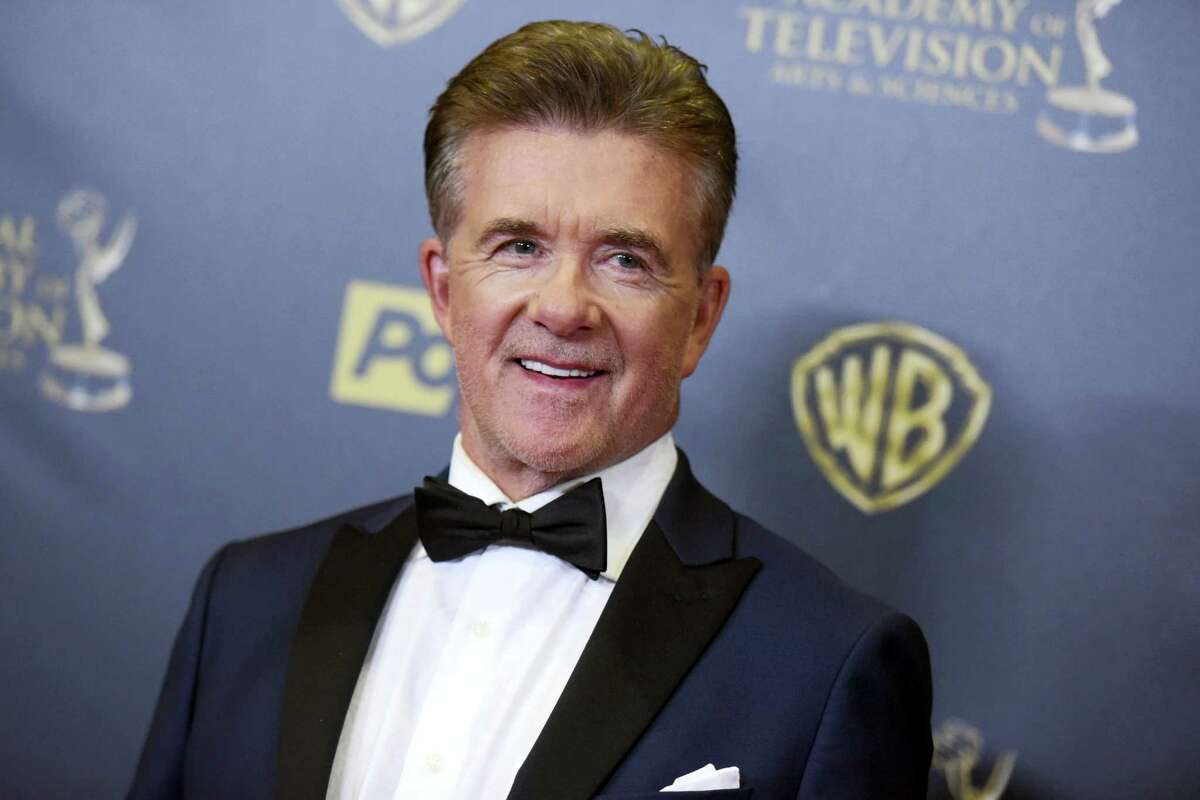 Alan Thicke poses in the pressroom at the 42nd annual Daytime Emmy Awards at Warner Bros. Studios in Burbank, Calif in 2015.