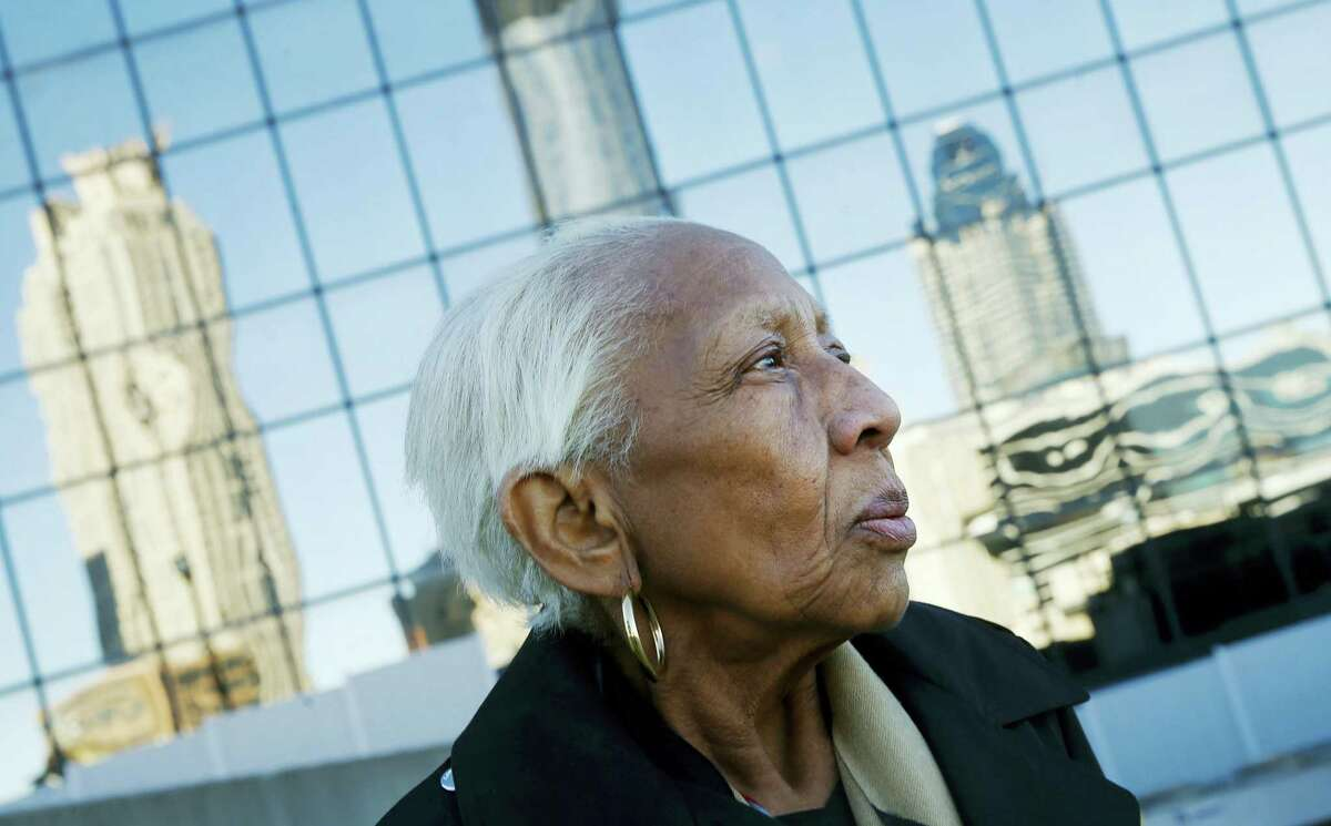 Doris Payne poses for a photo in Atlanta. Police just outside Atlanta say a notorious 86-year-old jewel thief has struck again. Dunwoody, Ga., police say Payne was arrested Tuesday, Dec. 13, 2016, at a Von Maur department store, where police report she put a $2,000 necklace in her back pocket and tried to leave the store.