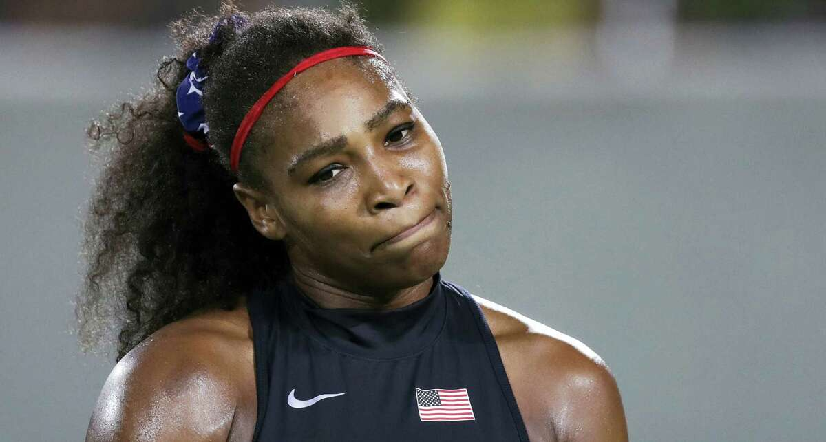 Serena Williams pauses during her loss to Elina Svitolina on Tuesday.