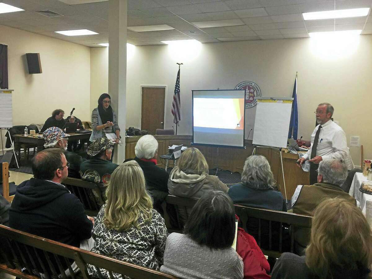 Ben Lambert - The Register Citizen Winsted residents came together Tuesday to share their ideas for future economic development in the downtown and the community as a whole, at a workshop in Town Hall.