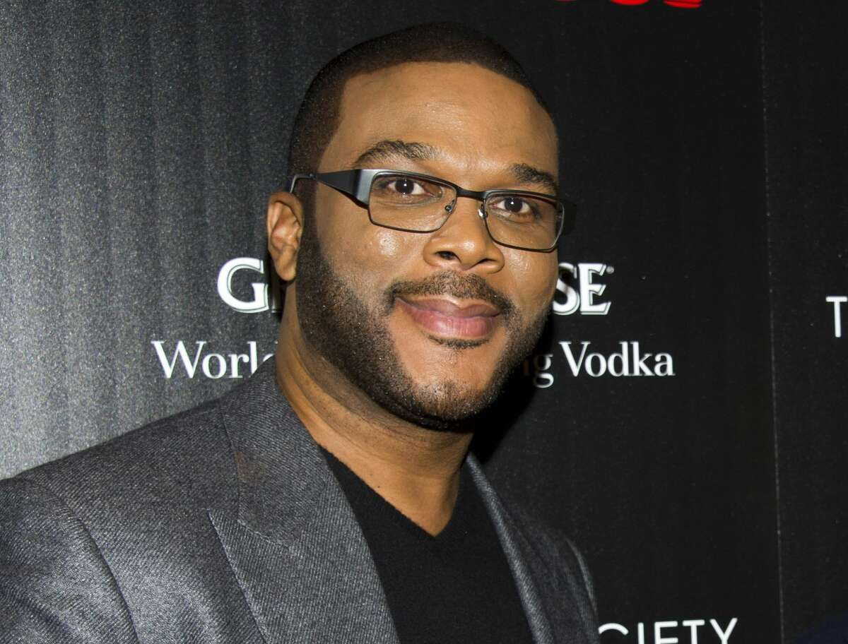"This Oct. 18, 2012 photo shows Tyler Perry at a screening of ""Alex Cross"" in New York."