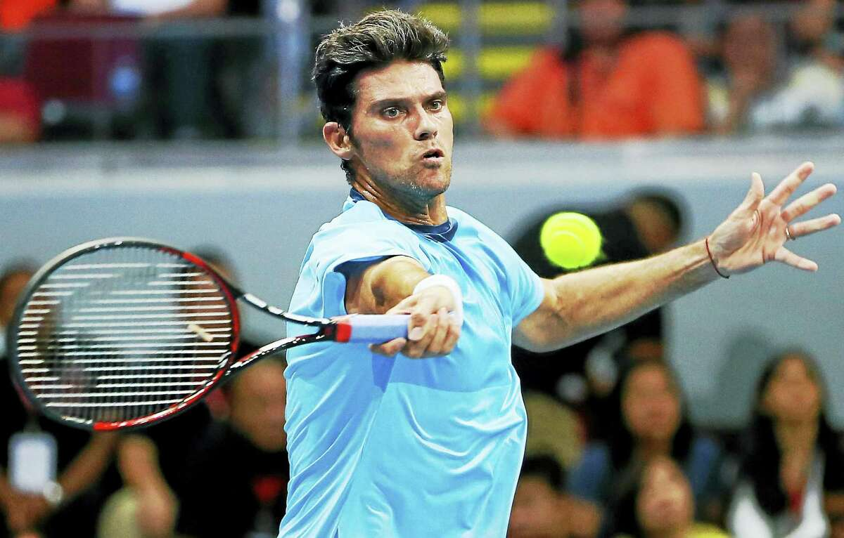 Mark Philippoussis will replace Mardy Fish in a match against Andy Roddick on Aug. 26 at the Connecticut Tennis Center at Yale.