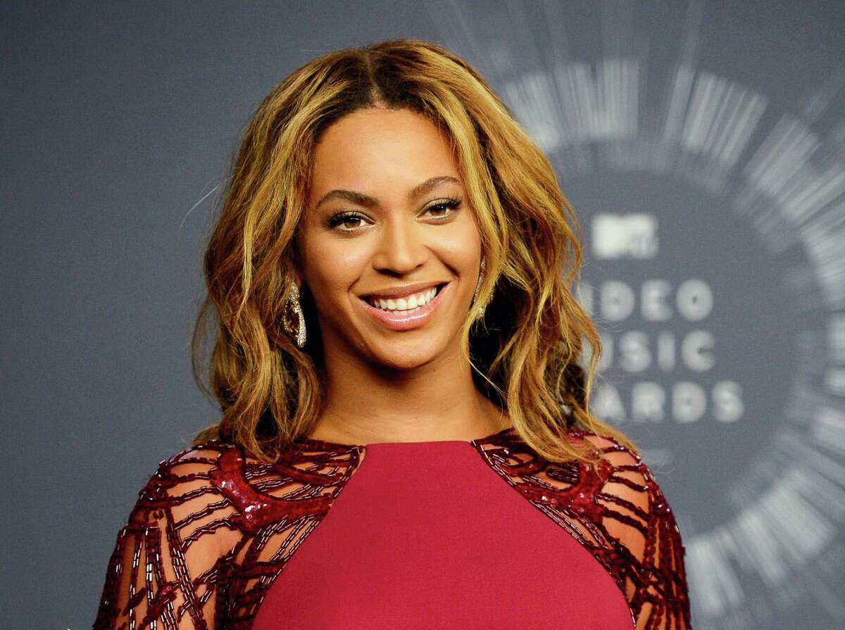 In this Aug. 24, 2014 photo, Beyonce backstage at the MTV Video Music Awards in Inglewood, Calif.