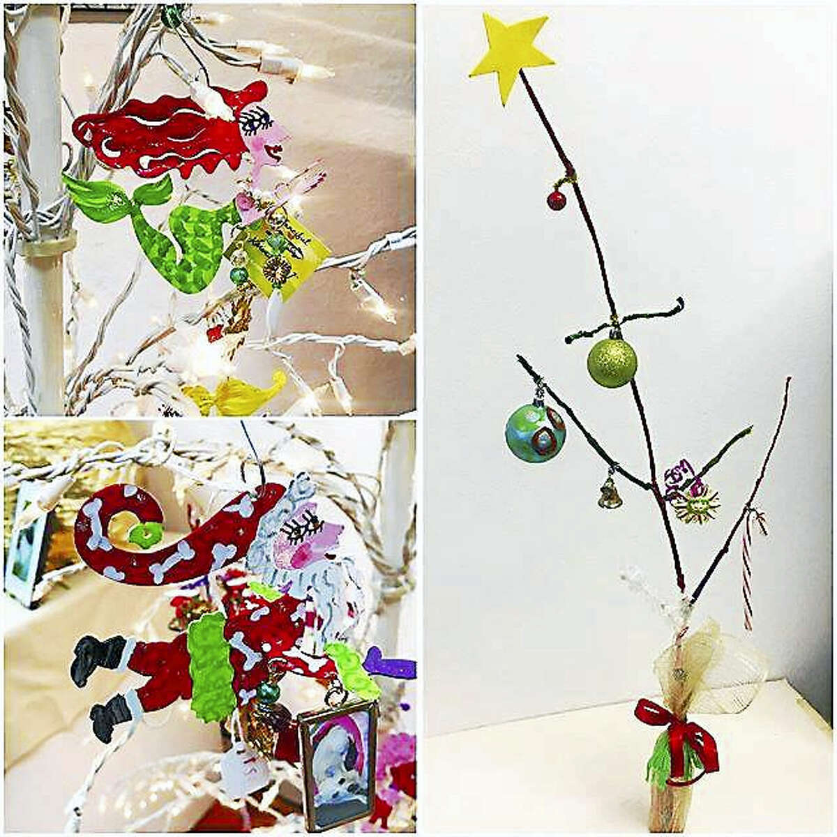 Contributed photoWhimsical creations by artist Karen Rossi, who is participating in Thursday's shopping event in downtown Torrington.