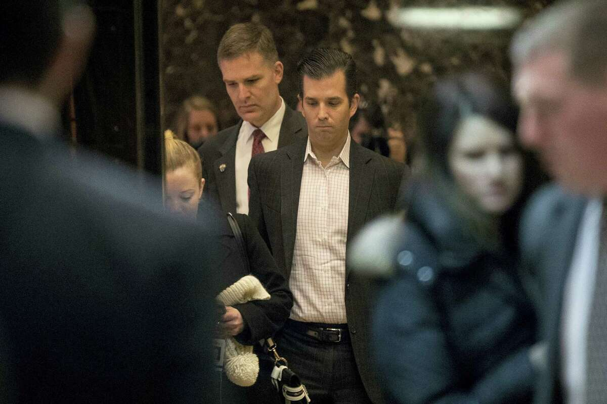 Donald Trump Jr. arrives at Trump Tower in New York on Dec. 6, 2016.