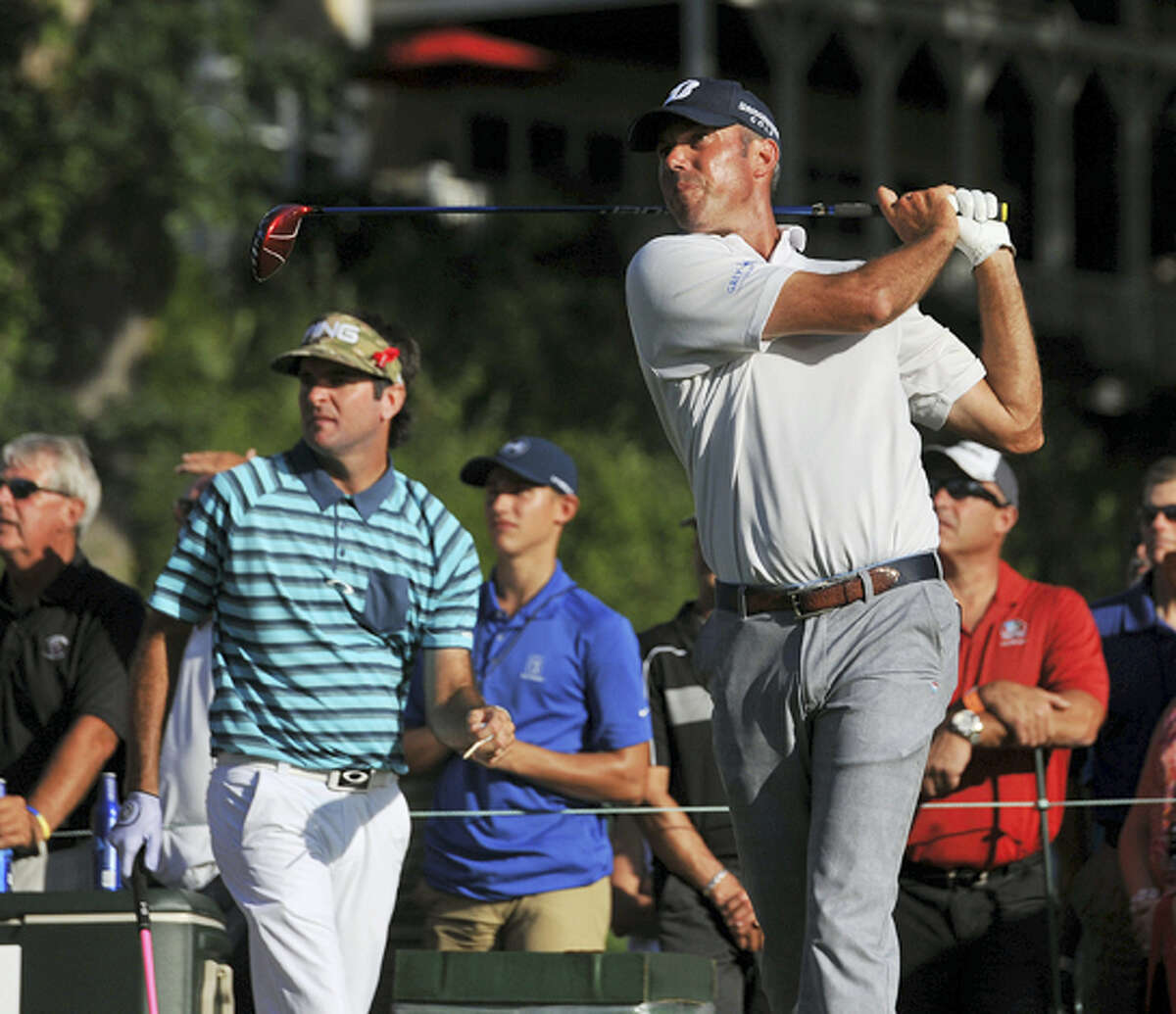 Matt Kuchar, shown here during the first round of the Travelers championship on Thursday, stands at 4-under par after the second round.